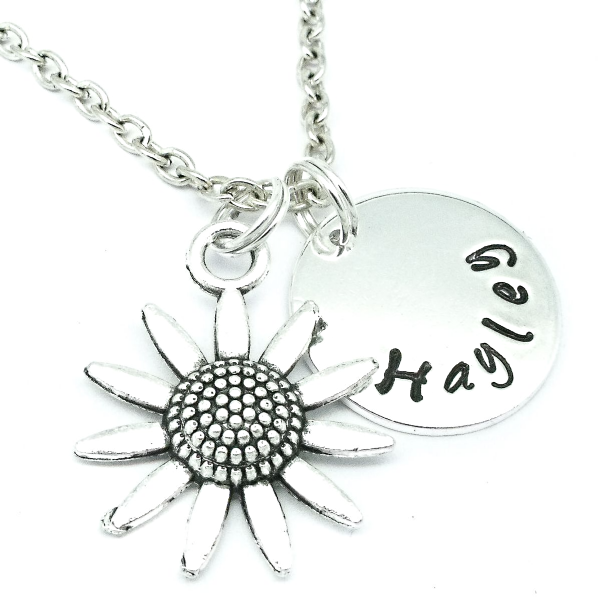 Daisy custom name necklace personalised gift